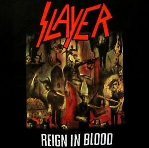 SLAYER-cd-cvr-REIGN-IN-BLOOD-Official-Black-SHIRT-Size-XL-new