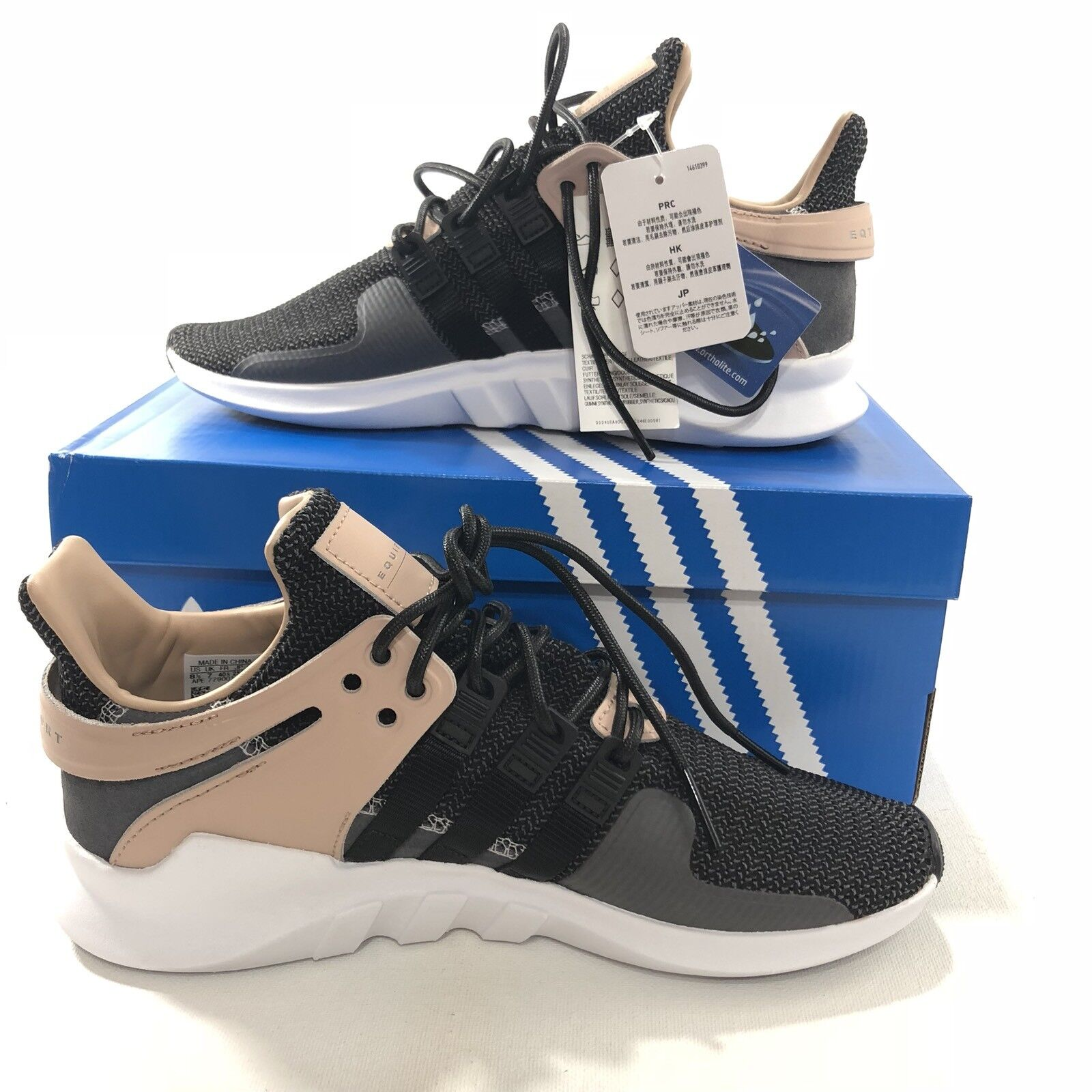 Adidas Womens EQT Support ADV Running Shoes Sneakers CQ2249 Black Size 8
