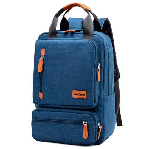 Unisex Canvas Bag Backpack Large Capacity Travel Bookbag School Rucksack Satchel