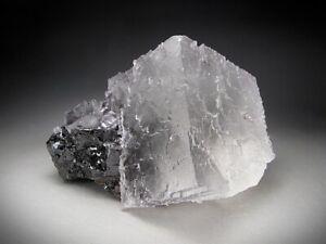 Fluorite on Sphalerite Crystals, Elmwood Mine, Tennessee