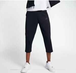 908824 Nwt Cropped Fleece Size Nike 010 Joggers 91207044850 Small Tech Pants Black Women's RwpzqUx