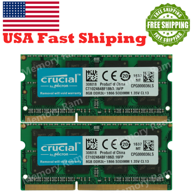 16GB Samsung 2X 8GB 2RX8 DDR3 1333MHz PC3-10600S 1.5V SODIMM Laptop RAM Memory