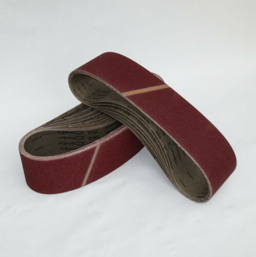10 er Pack Schleifbänder Schleifpapier 100 x 920 mm P 100 Schleifband aus Gewebe