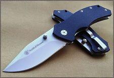 Couteau EDC Smith&Wesson Lame Acier Carbone Manche G-10 Liner SW602