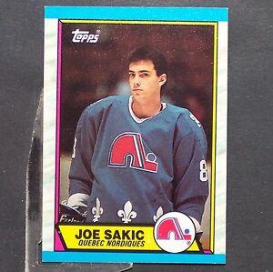 Joe Sakic Rc 198990 Topps 113 Quebec Nordiques Colorado