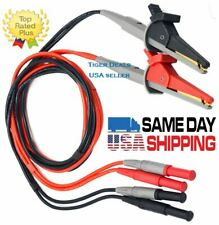 Lcr Meter Test Leads Lead Terminal Kelvin Clip Wires 4mm Banana Plugs Usa Seller