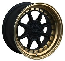 XXR 002.5 16X8 4x100/114.3 +20 Black/Bronze Wheels Fits Carrado Del So Civic Crx