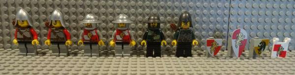 (b7/17) Lego 7946 Cavaliere E Accessori Usato Castello Maniero Top Kg
