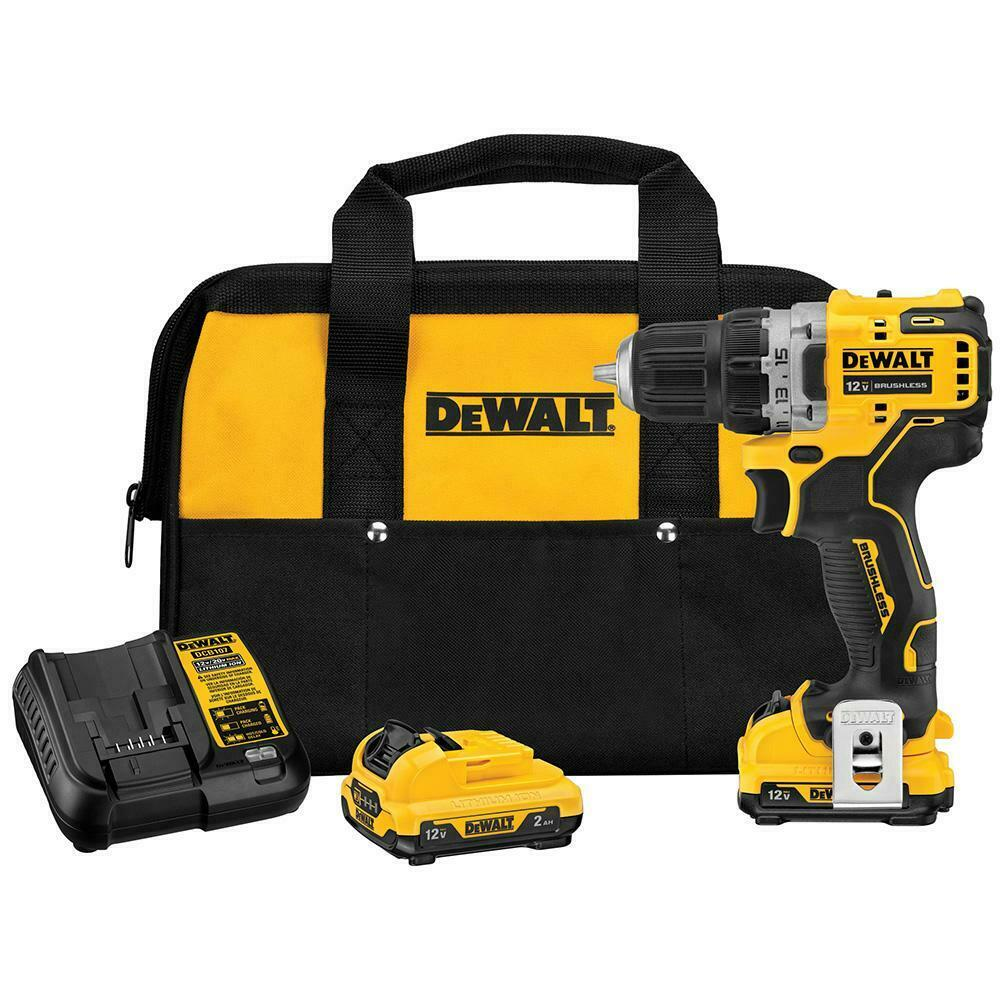 DeWALT DCD701F2 XTREME 12V MAX Brushless 3/8 Inch Cordless Drill Driver Kit. Buy it now for 110.00
