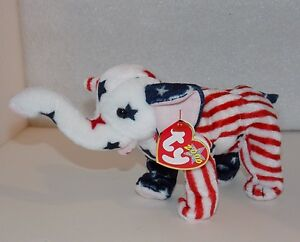 Image is loading Ty-Beanie-Baby-RIGHTY-2000-REPUBLICAN-ELEPHANT-Political- 34a963b05a40