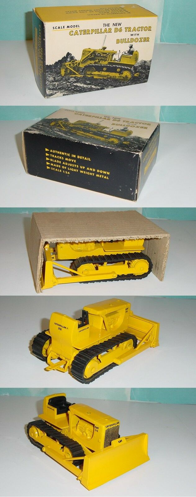 1 16 Vintage CAT D6 Crawler by ERTL (1963) W Insert & Nice Box