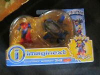 Fisher Price Imaginext Super Friends Battle Armor Superman Suit Airplane Toy