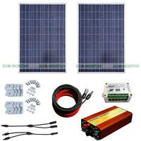200watt Solar Kit 2100w Solar Panel +1kw Pure Sine Wave Inverter For Household