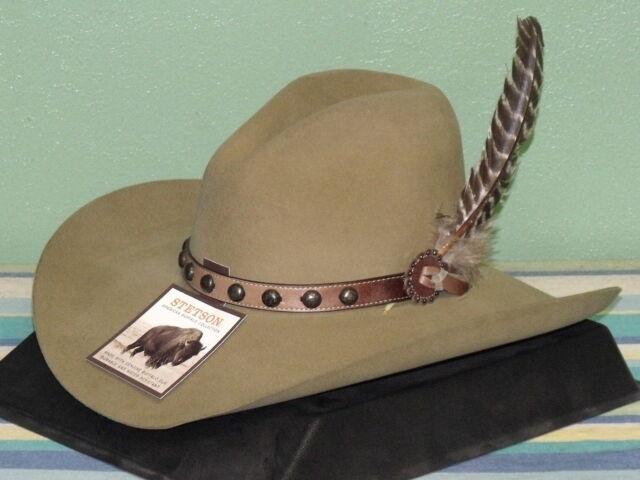 7c68496db STETSON BROKEN BOW 4X FELT GUS STYLE COWBOY WESTERN HAT