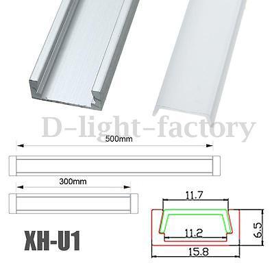 30/50cm XH-U1/U3/U5/062/008/009 Aluminum Channel Holder Cover for LED Strip
