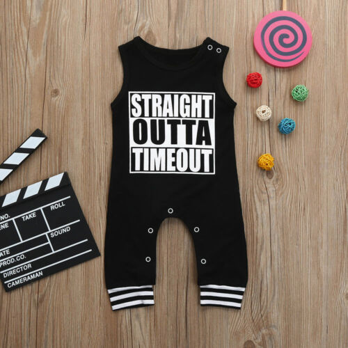 Summer Toddler Baby Boys Infant Letter Print Clothes Jumpsuit Romper Outfits CO
