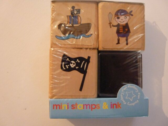 Mini Stamps /& Ink Childrens Arts /& Crafts Pirate /& Fairy Princess Themes