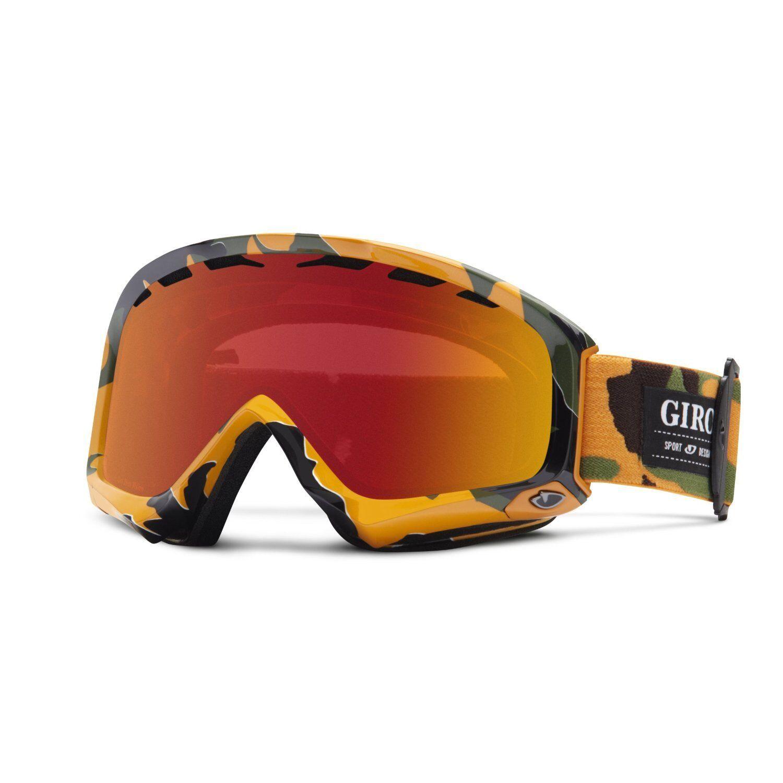 GIRO Station Skibrille Snowboardbrille Orange camo Amber Scarlet  EUR 89 95