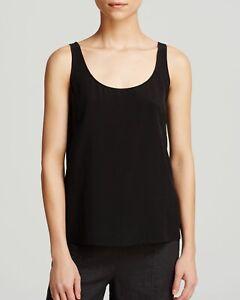 Eileen Fisher 100% Silk Black Cami  Sleeveless Top Blouse Tank Sz XL