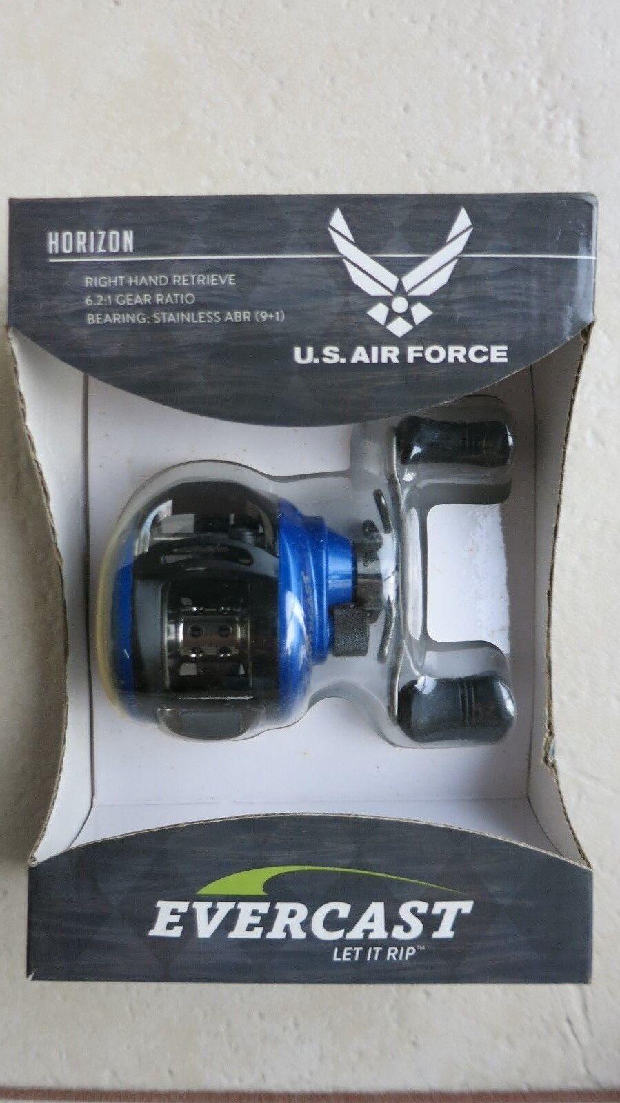 Evercast Horizon U.S. Air Force Fishing Reel bleu - Right Hand Retrieve 6.2 1