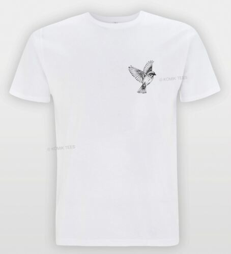 Bird Badge Print UNISEX T-shirt Tattoo Style Turn Sketch Indie Hipster Tee