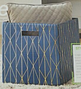 Set of 3 Better Homes and Gardens Fabric Cube Storage Bins GEO 12.75X12.75X15