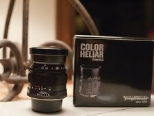 Voigtlander Heliar 75mm F/2.5 Multi Coated for both Leica M and Sony FE mounts