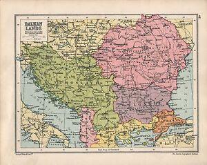 Carte Roumanie Bulgarie.Details Sur Carte De 1934 Terres Des Balkans Turquie Roumanie Bulgarie Yougoslavie Afficher Le Titre D Origine