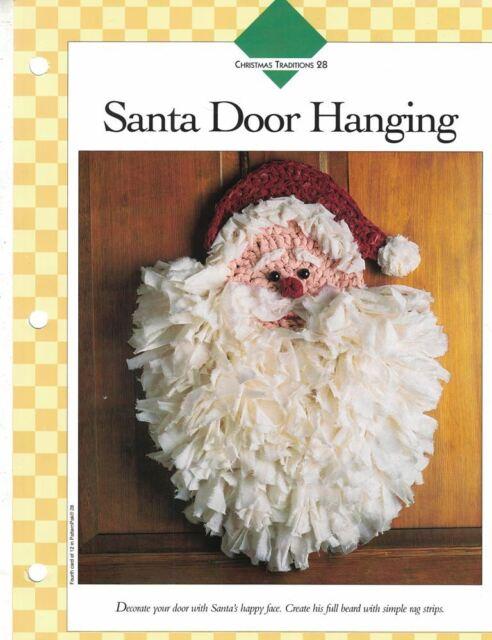 Santa Door Hanging 15 X 19 Crochet Single Pattern Vanna White Ebay