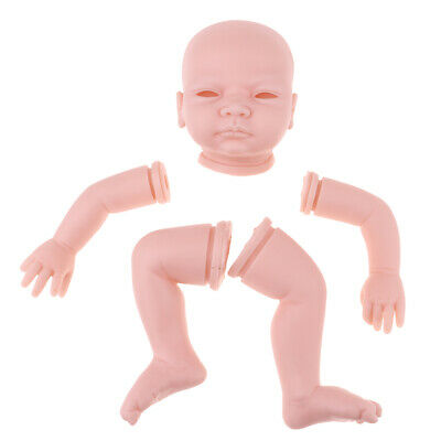 "Unpainted DIY Vinyl 22/"" Reborn Doll Kit Head Arm Full Legs Blank Baby Doll"