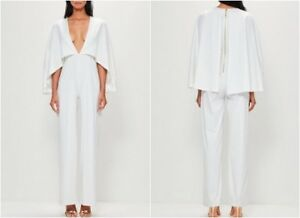 Image is loading Missguided-Jersey-Cape-Plunge-Jumpsuit-UK-8-US- e6c326aa1