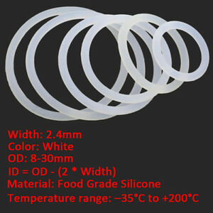 204 Chemical-Resistant High-Temperature O-Rings 3//8 Diameter 25 EA per Pack