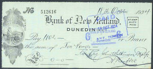 BANK-of-NEW-ZEALAND-DUNEDIN-MAORI-VIGNETTE-1934-CHECK