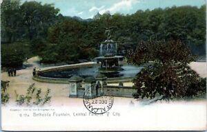 Bethesda-Fountain-Central-Park-1907-New-York-City-Undivided-Postcard
