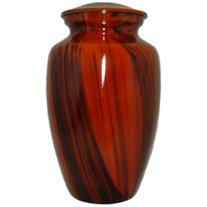 Adult Large Cremation Memorial Orange Plank Finish Urn for Human Ashes