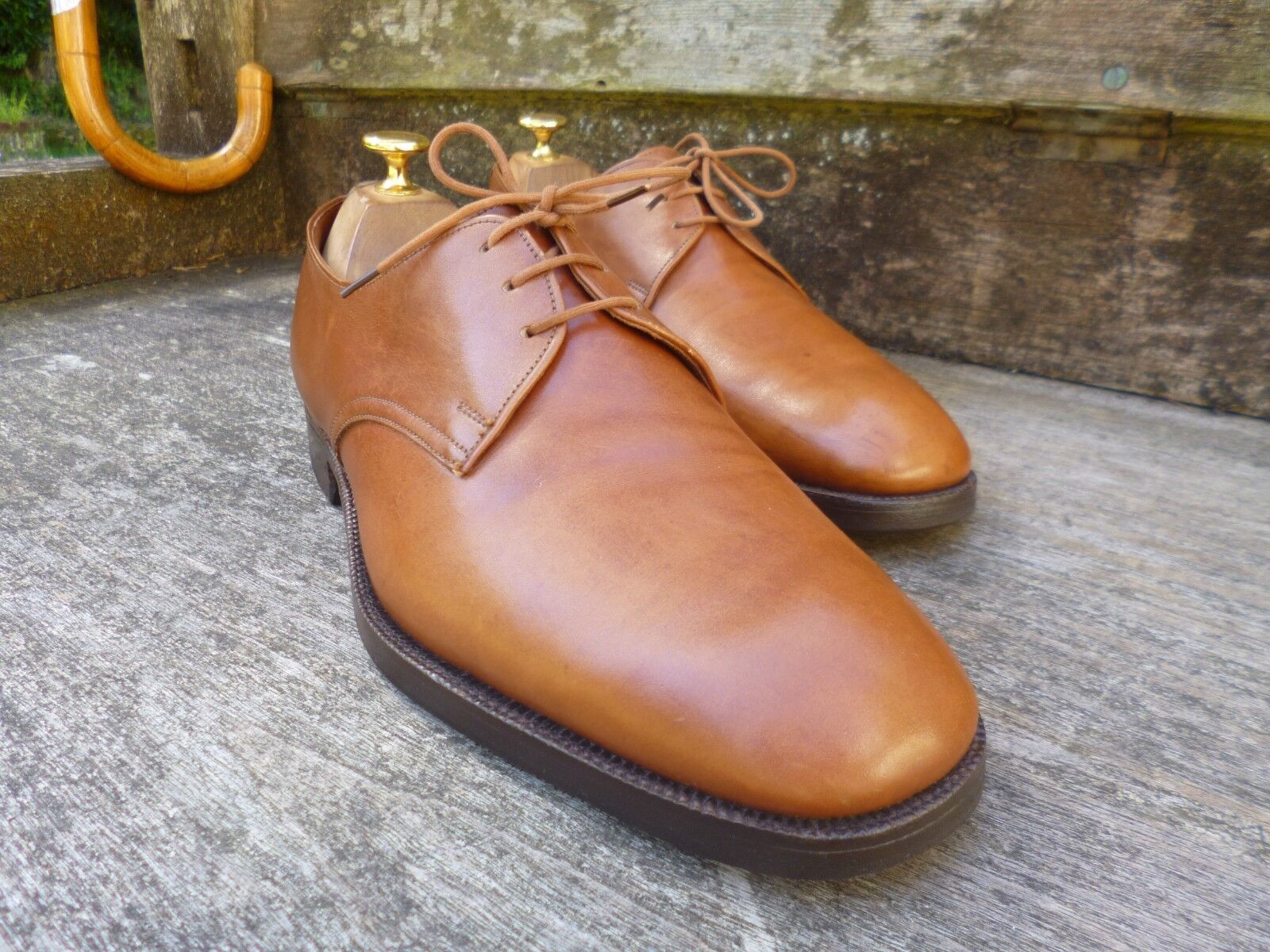 CHURCH VINTAGE DERBY – BROWN / TAN – UK 8 – BRUTON - EXCELLENT CONDITION