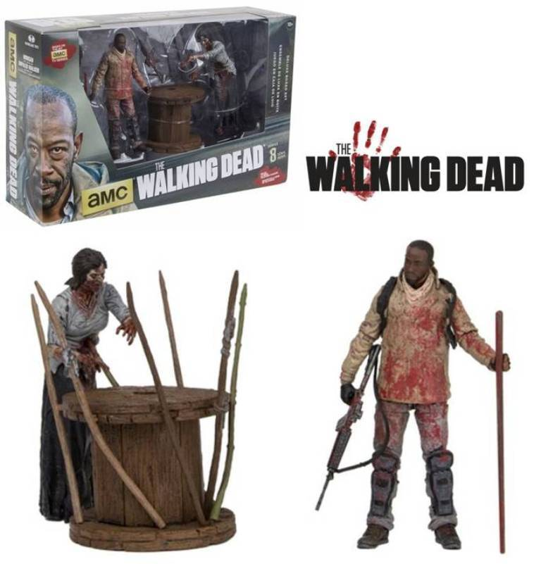 The Walking Dead Morgan Morgan Morgan W Impaled Walker Deluxe Box Action Figure Set Mcfarlane 4aef98