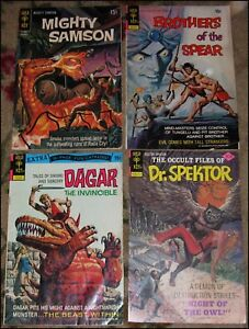 4 GOLD KEY COMICS ~ MIGHTY SAMSON #16, BROTHERS OF THE SPEAR #4, DR. SPEKTOR #22