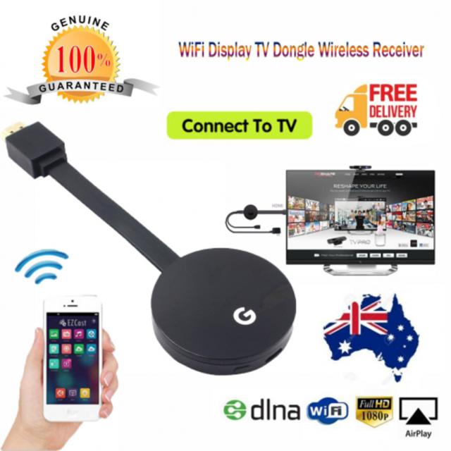 HD 1080P WiFi Display Dongle Wireless Receiver TV HDMI AV DLNA Airplay Miracast