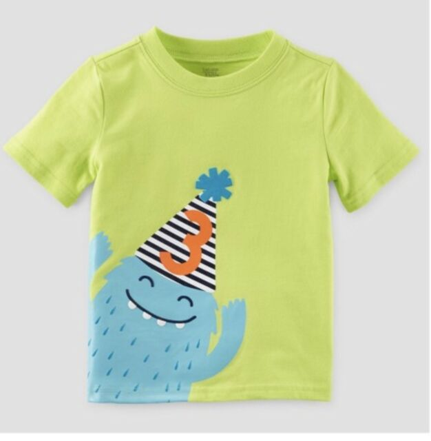 Toddler Boys 3rd Birthday T Shirt By Carters Just One You NWT