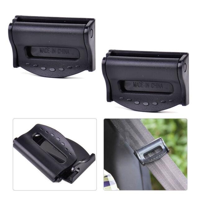 2Pcs Car Seat Belt Safety Adjuster Clips Clamp Stopper Buckle Improves ComfortBL