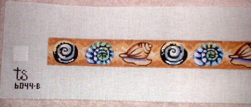 KW 6044B Sea Shell Basket Band 18ct Mono HP Hand Painted Needlepoint Canvas