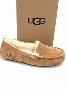 UGG-Australia-Ansley-Chestnut-Pelle-Scamosciata-Mocassino-Pantofole-Mocassini-Scarpe-Donna-3312