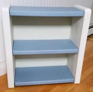 Vintage Little Tikes Bookcase 2 Shelf Bookshelf Child