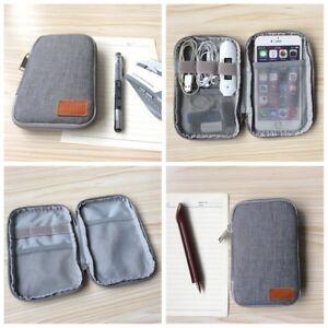 Black-Storage-USB-Cable-Organizer-Bag-Case-Digital-Earphone-Travel-Insert-Gray