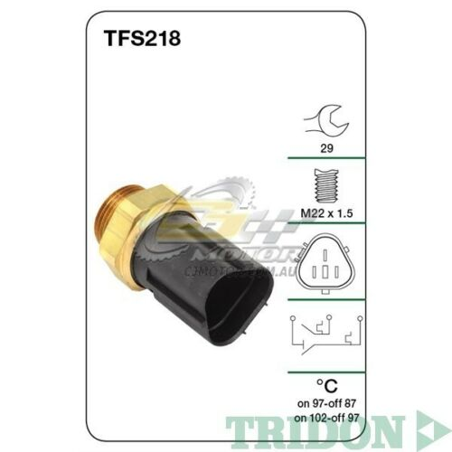 TRIDON FAN SWITCH FOR Audi S3 01000605 1.8LAMK, BAM20VPetrol TFS218