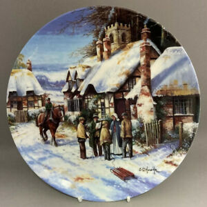 Collectors-Plate-Wedgwood-Christmas-Country-Days-Series-034-Carol-Singing-034