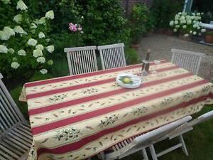 pflegeleicht Tischdecke Provence 150x350 cm rot sand Oliven aus Frankreich