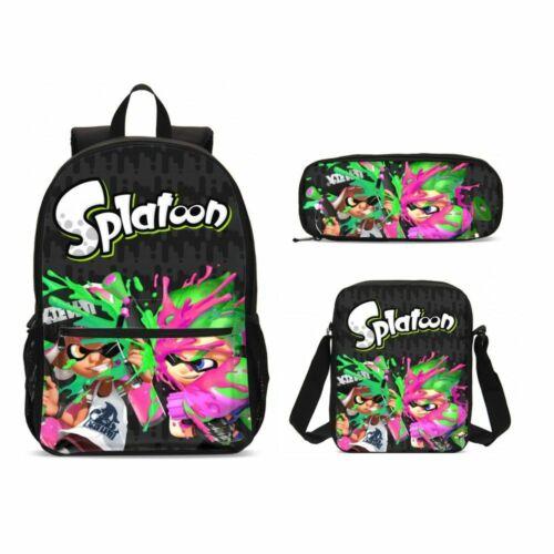 Splatoon Cartoon Kids Big School Sac à Dos Sac-repas isotherme stylo étui Valeur Lot