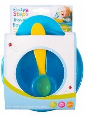 Baby Travel Bowl Spoon Self Feeding Set Outdoor Weaning Food BPA Free UK